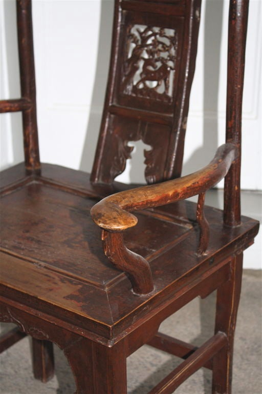 Pair of Chinese Guanmaoyi Chairs For Sale 6