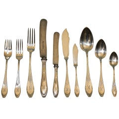Arts and Crafts German Silver Flatware  -  E. L. Vietor of Darmstadt