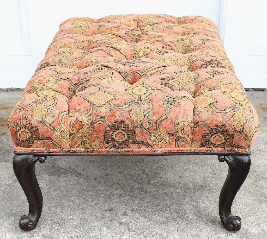 george iii tufted grand ottoman at 1stdibs. Black Bedroom Furniture Sets. Home Design Ideas