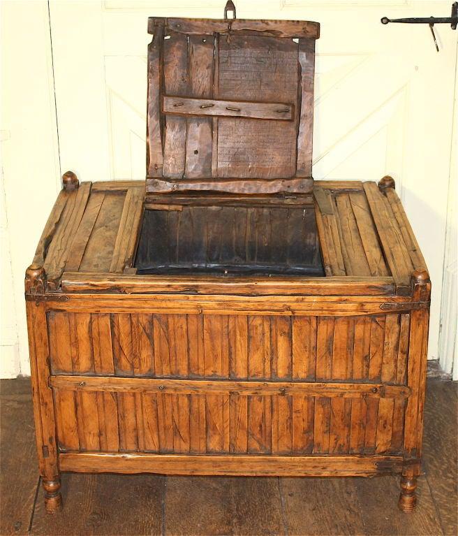 Decorative Kindling Box : Cockfighting coffer fireside kindling box at stdibs