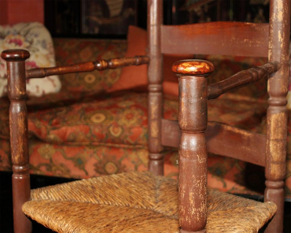 American Colonial Massachusetts Slat-Back Armchair For Sale