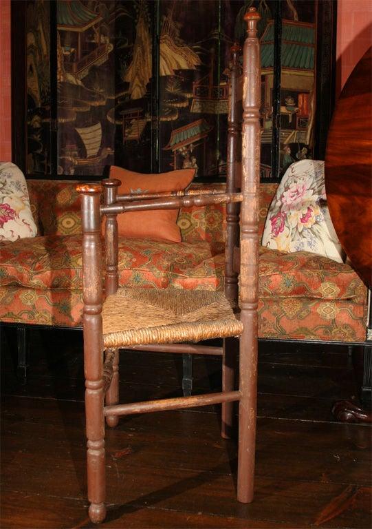 18th Century Massachusetts Slat-Back Armchair For Sale