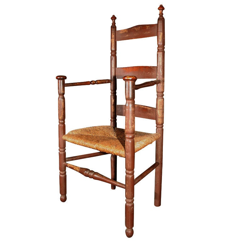 Massachusetts Slat-Back Armchair For Sale