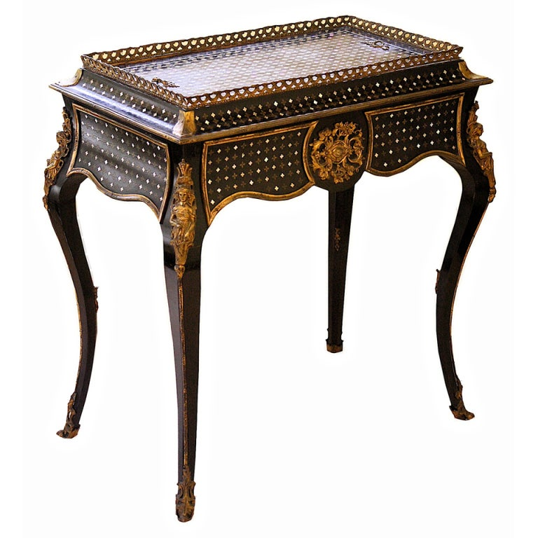 Napoleon iii sormani 39 rococo 39 jardiniere table for Jardiniere napoleon 3