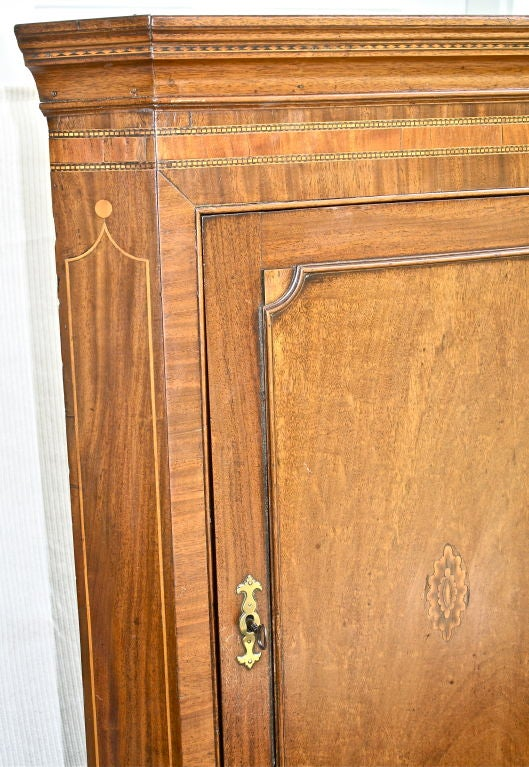 Scottish Hepplewhite Inlaid Corner Cabinet 6