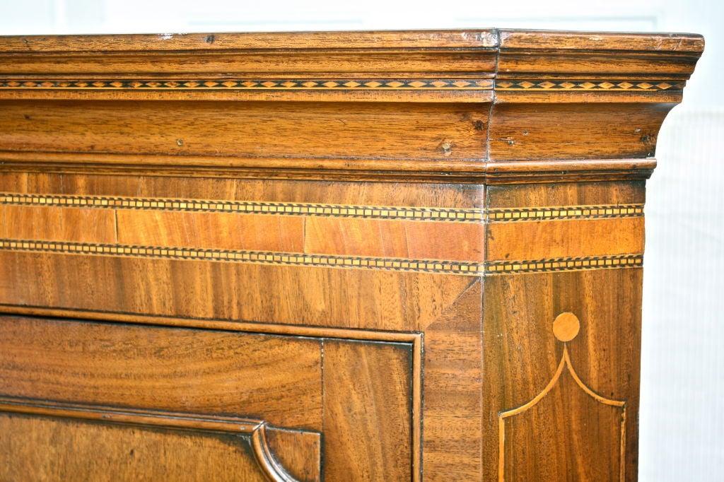 Scottish Hepplewhite Inlaid Corner Cabinet For Sale 1