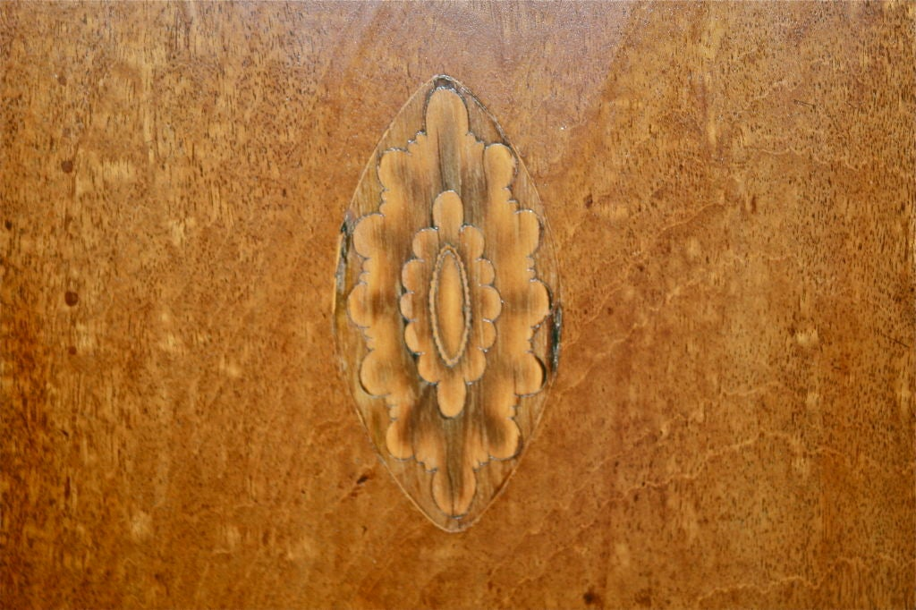 Scottish Hepplewhite Inlaid Corner Cabinet For Sale 2