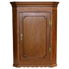 Scottish Hepplewhite Inlaid Corner Cabinet
