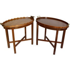 TWO Georgian Mahogany Tray Tables