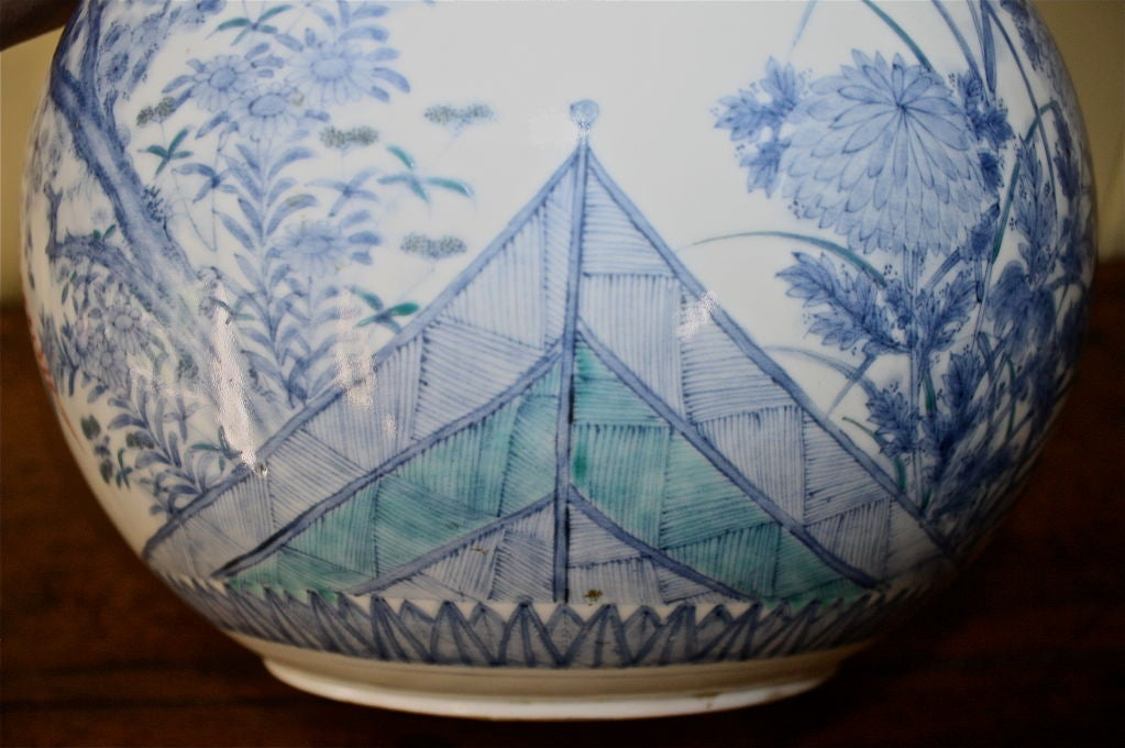 Japanese Porcelain Shonzui Mizusashi For Sale 4