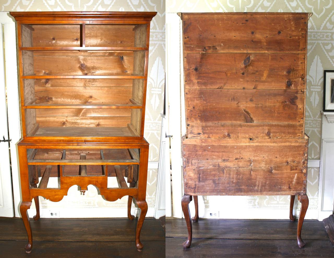 Newport Queen Anne Tiger Maple Highboy - Christopher Townsend Shop For Sale 2