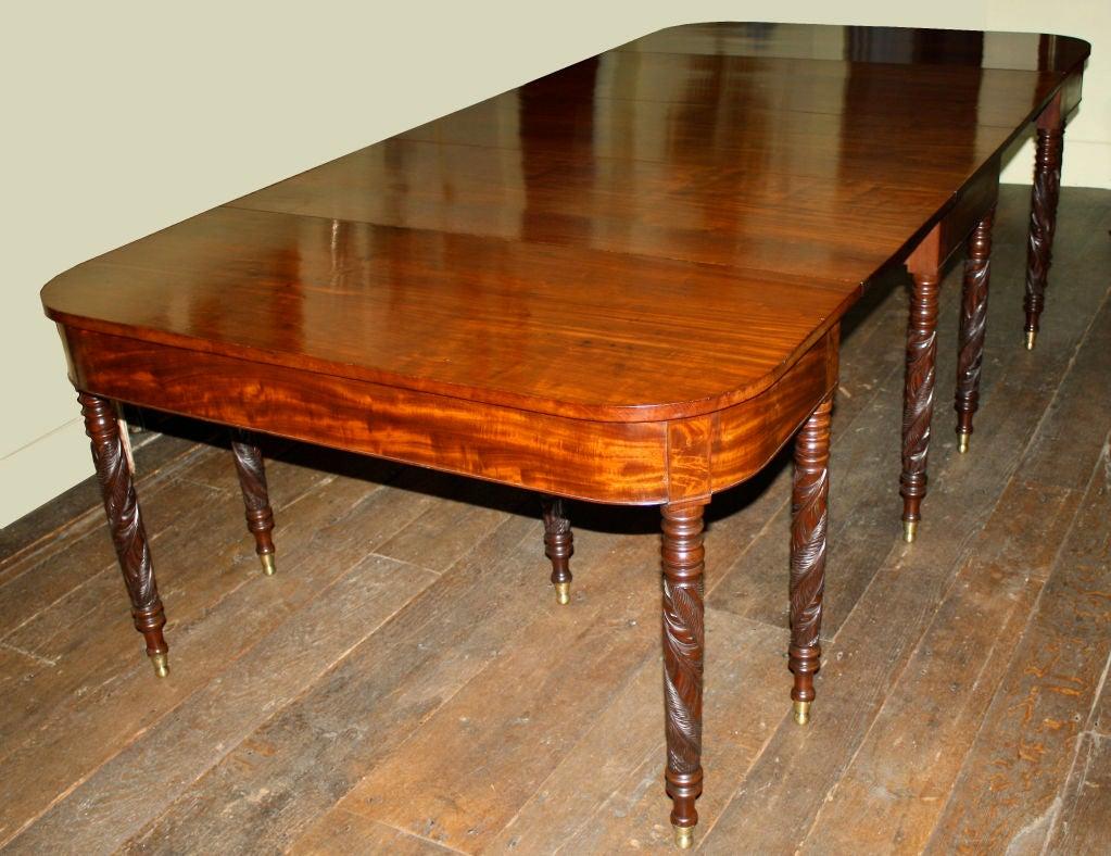 New York Federal Mahogany Dining Table John Budd Shop  : 866713120524262 from 1stdibs.com size 1023 x 788 jpeg 128kB