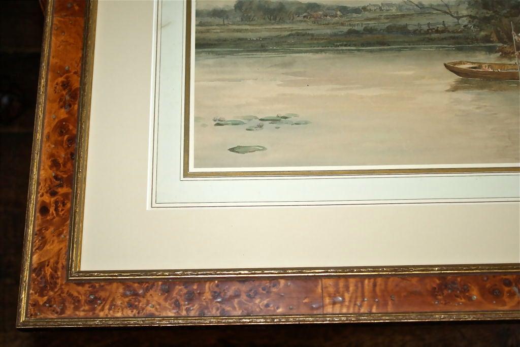 """Dutch River Scene""  W. C. Bauer  Watercolor Landscape 10"