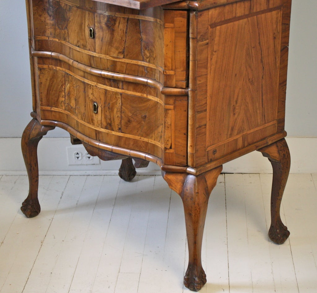 italian rococo bureau secretaire at 1stdibs. Black Bedroom Furniture Sets. Home Design Ideas