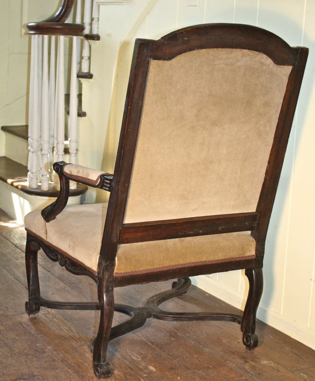 French Regence Fauteuil Salon Armchair For Sale