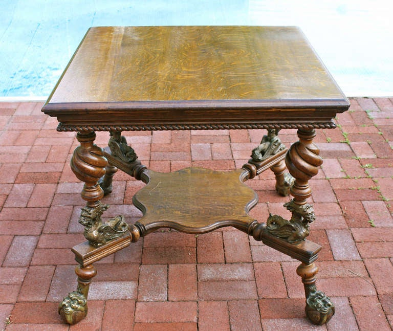 Merklen brothers arts and crafts center table for sale at - Archives departementales 33 tables decennales ...