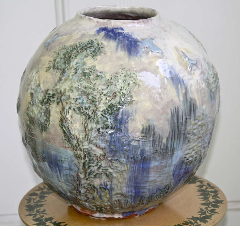 American arts and crafts pottery vase for sale at 1stdibs for Jamaican arts and crafts for sale