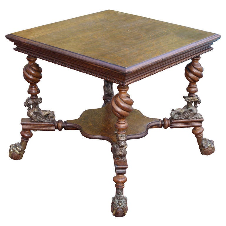 Merklen brothers arts and crafts center table for sale at 1stdibs - Archives departementales 33 tables decennales ...