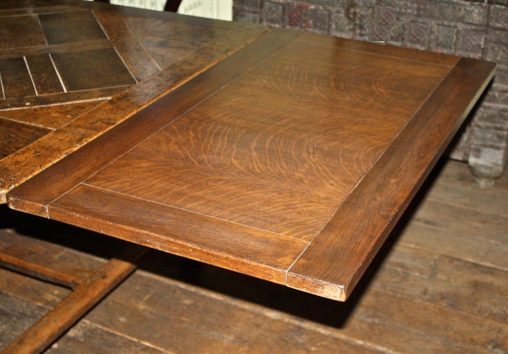Charles II Oak Parquet Refectory Dining Table Seating Ten  : 866713388331305 from 1stdibs.com size 1024 x 714 jpeg 130kB