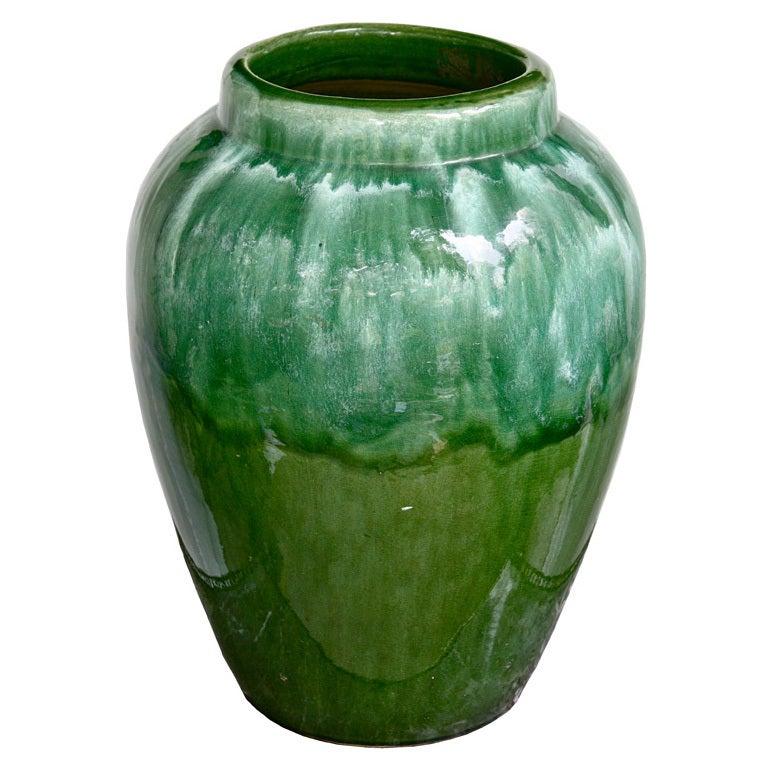 Green Drip Glaze Oil Jar At 1stdibs