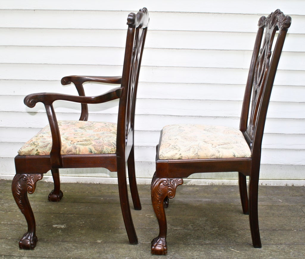 Philadelphia chippendale revival dining chairs at stdibs