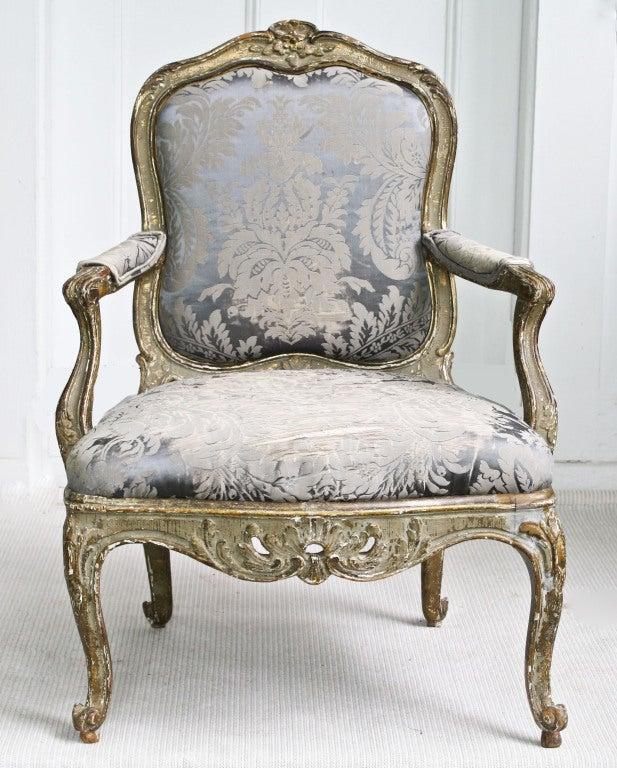 Italian Rococo Genoese Fauteuil 2