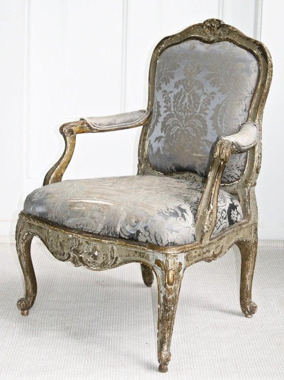 Italian Rococo Genoese Fauteuil 3
