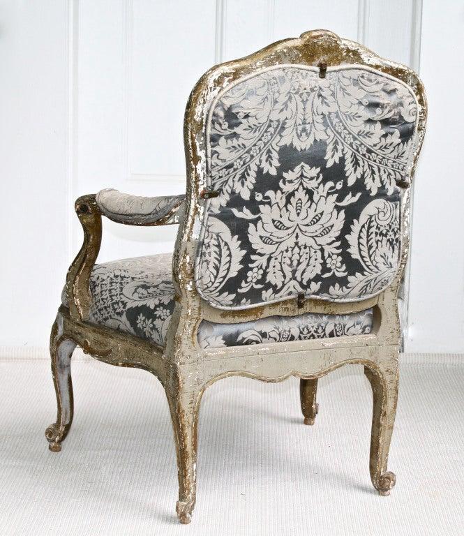 Italian Rococo Genoese Fauteuil 4