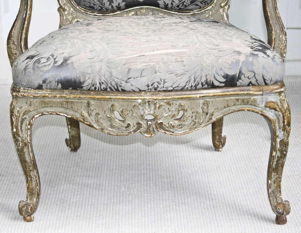 Italian Rococo Genoese Fauteuil 6