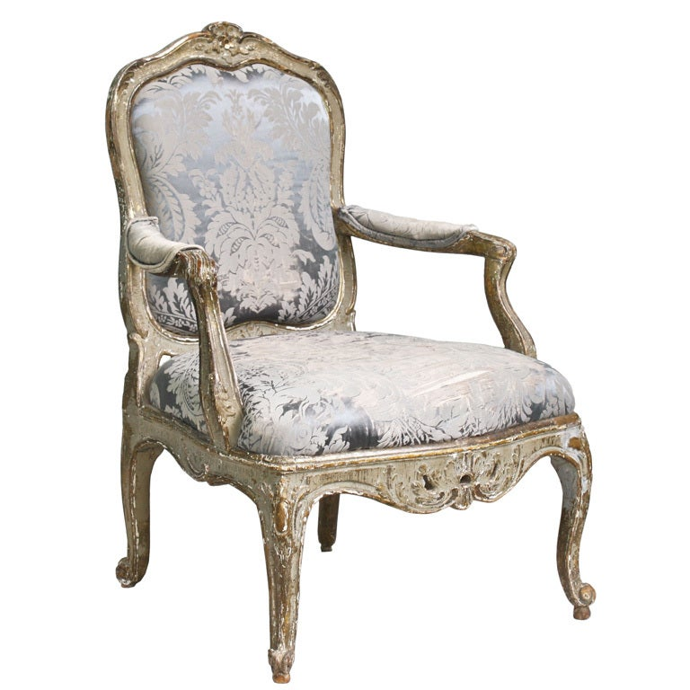 Italian Rococo Genoese Fauteuil At 1stdibs