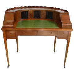 Inlaid Mahogany Carlton House Desk