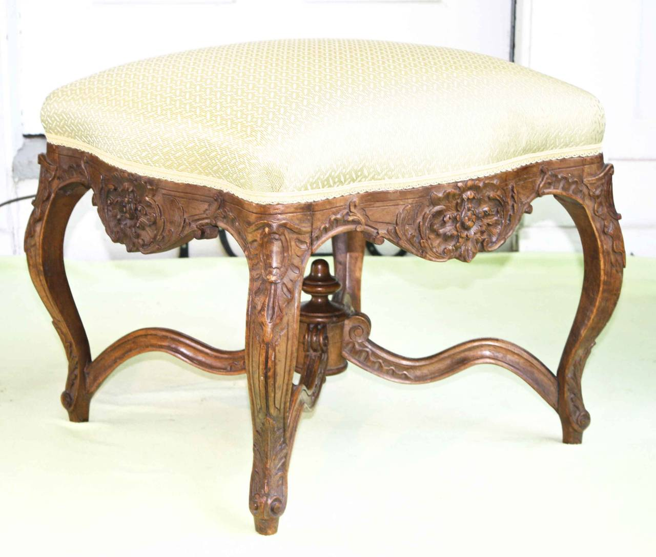 French Louis XV Revival Court Tabouret For Sale