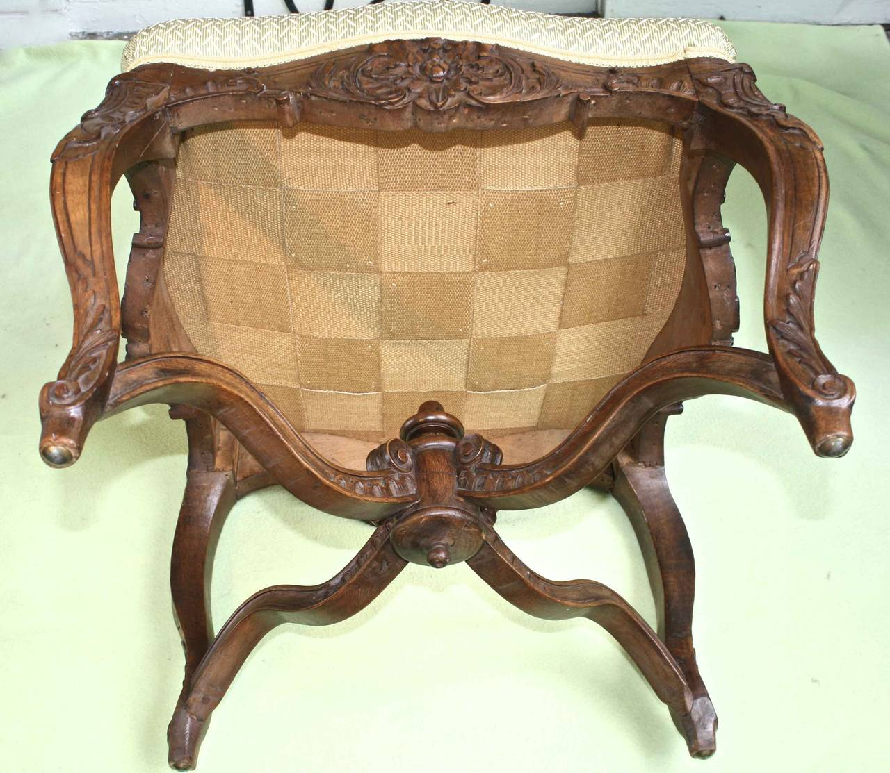 Louis XV Revival Court Tabouret For Sale 2
