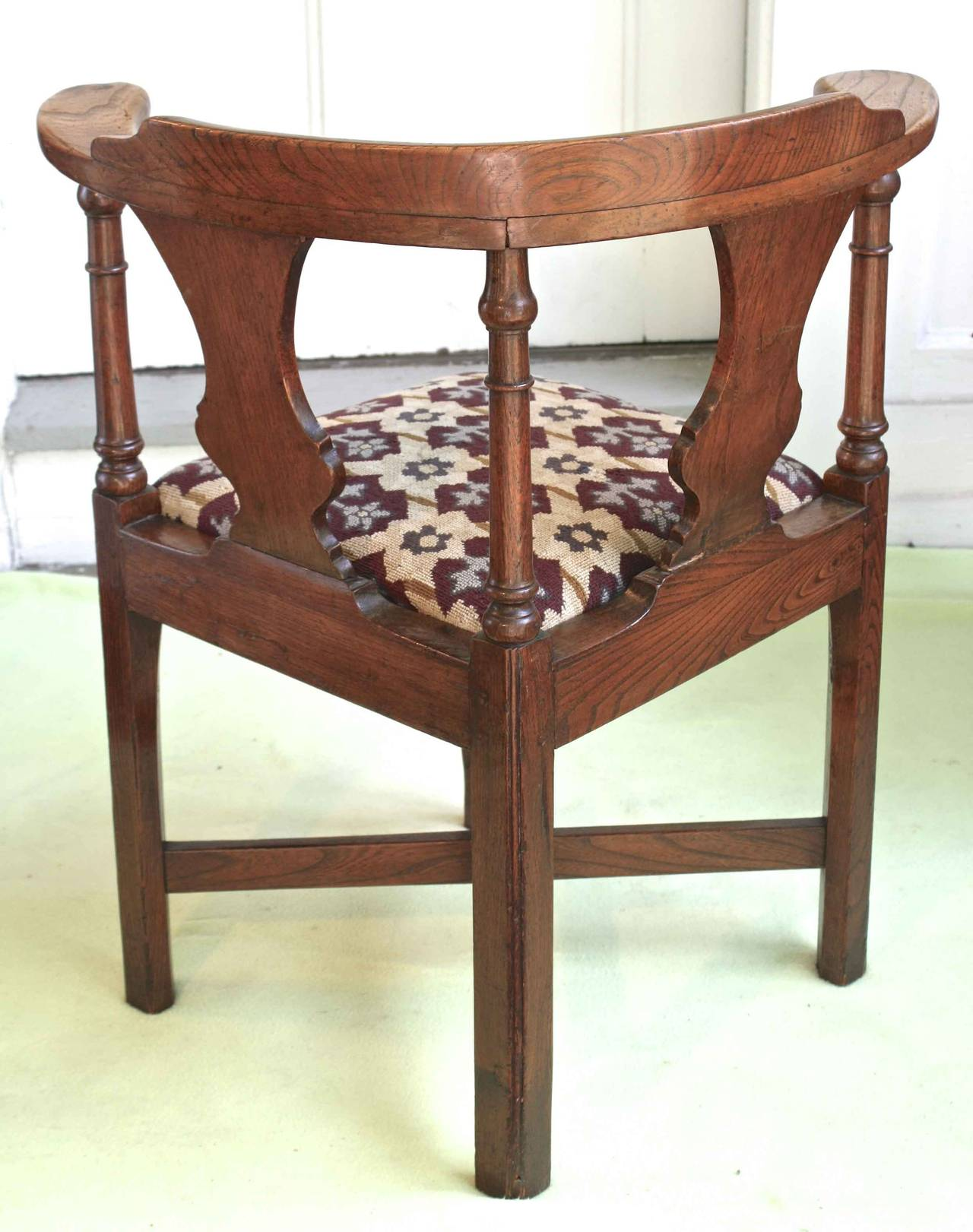 Hand-Carved George II Corner Chair For Sale