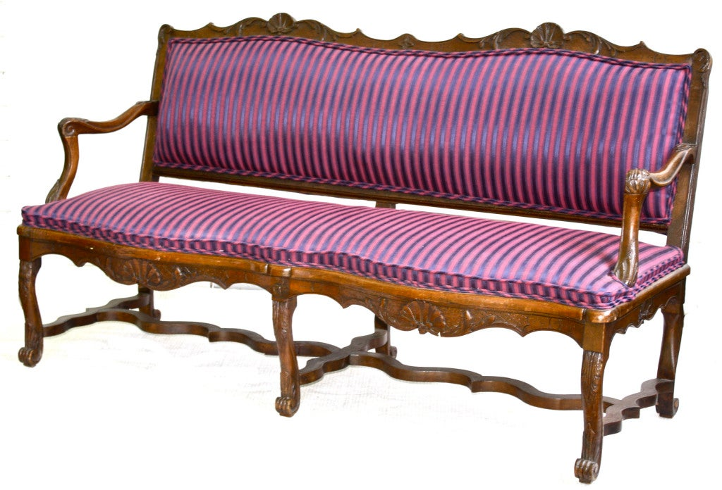 Hand-Carved Tyrolean Rococo Austrian Canape For Sale