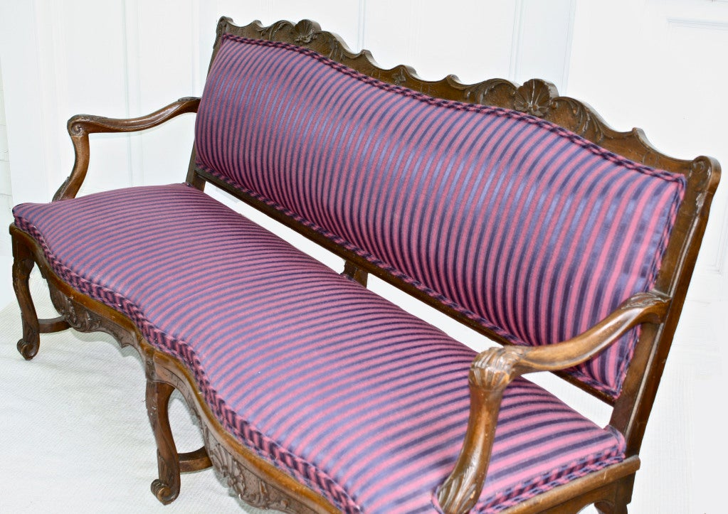 Tyrolean Rococo Austrian Canape In Good Condition For Sale In Woodbury, CT