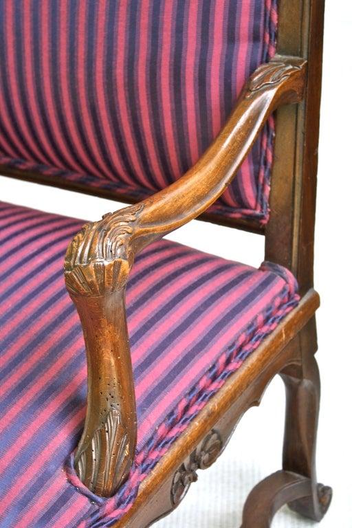 Walnut Tyrolean Rococo Austrian Canape For Sale