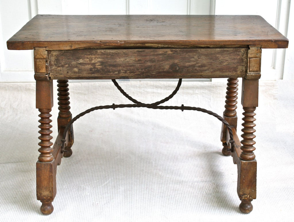 Spanish Baroque Walnut Table For Sale 5