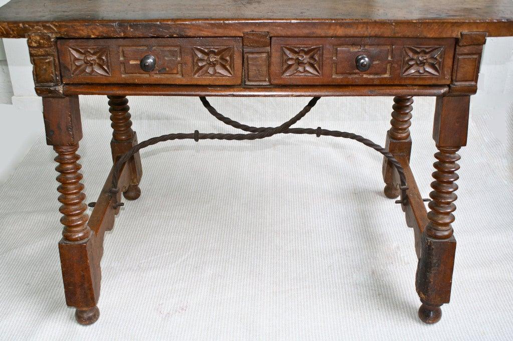 Spanish baroque walnut table at 1stdibs for Spanish baroque furniture