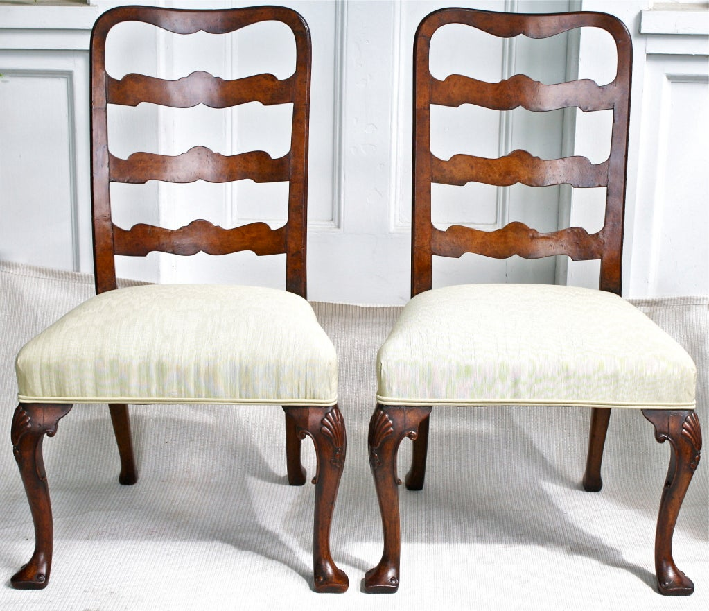PAIR George II Ribbon-back Chairs 2