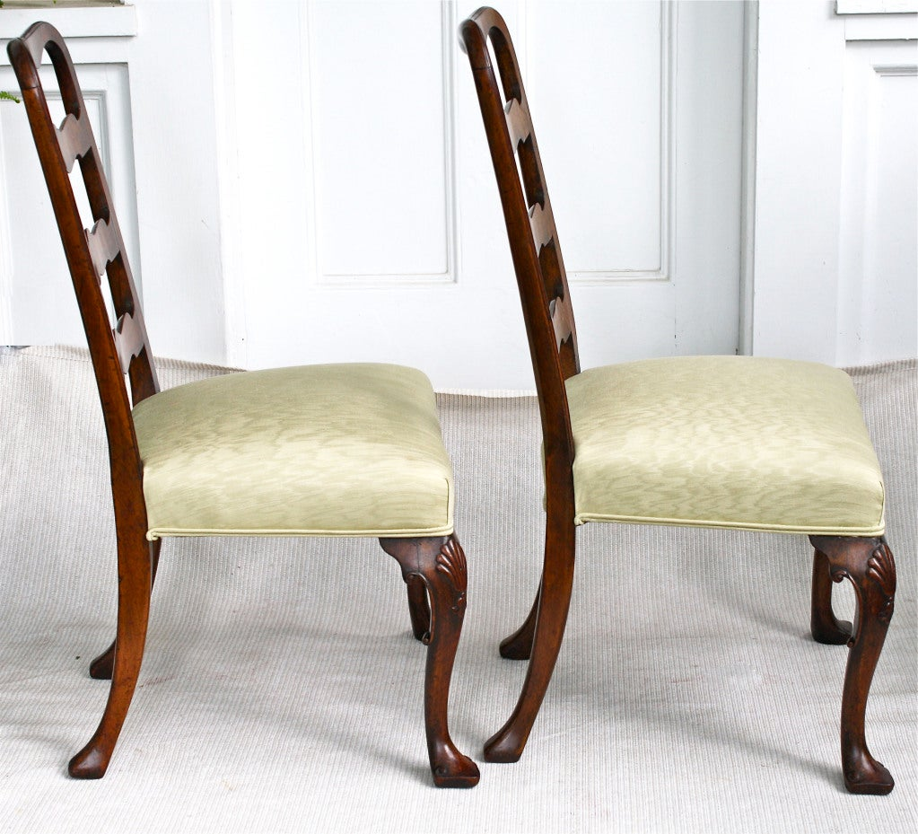 PAIR George II Ribbon-back Chairs 3