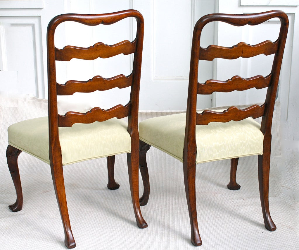 PAIR George II Ribbon-back Chairs 4