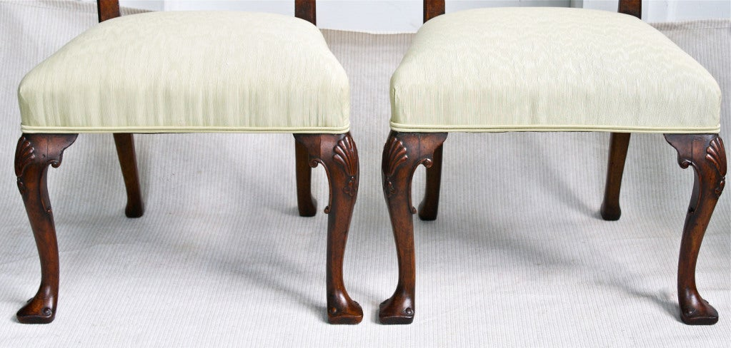 PAIR George II Ribbon-back Chairs 7