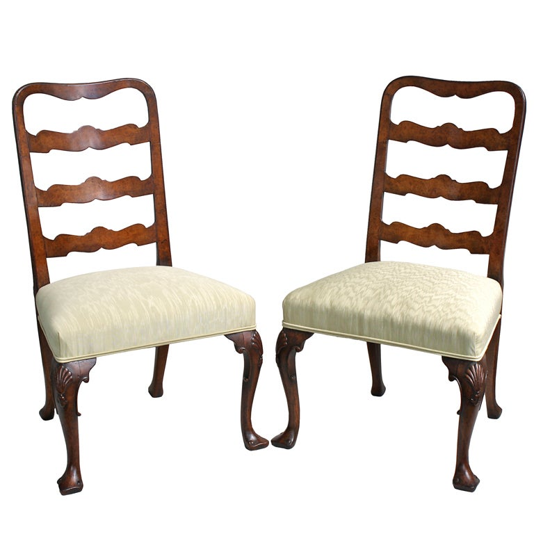 PAIR George II Ribbon-back Chairs 1