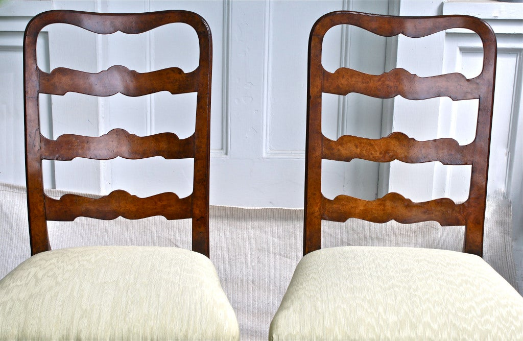 PAIR George II Ribbon-back Chairs 5