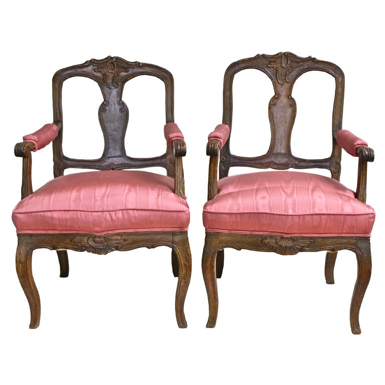 TWO Italian 'Poltrone Piedmontese' Armchairs 1