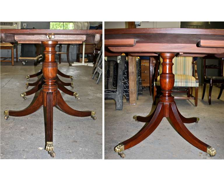 Triple Pedestal Rosewood Banded Mahogany Dining Table at  : Untitled22l from www.1stdibs.com size 768 x 593 jpeg 58kB
