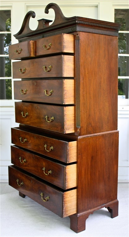 George III Scottish 'Swans Neck' Chest on Chest For Sale