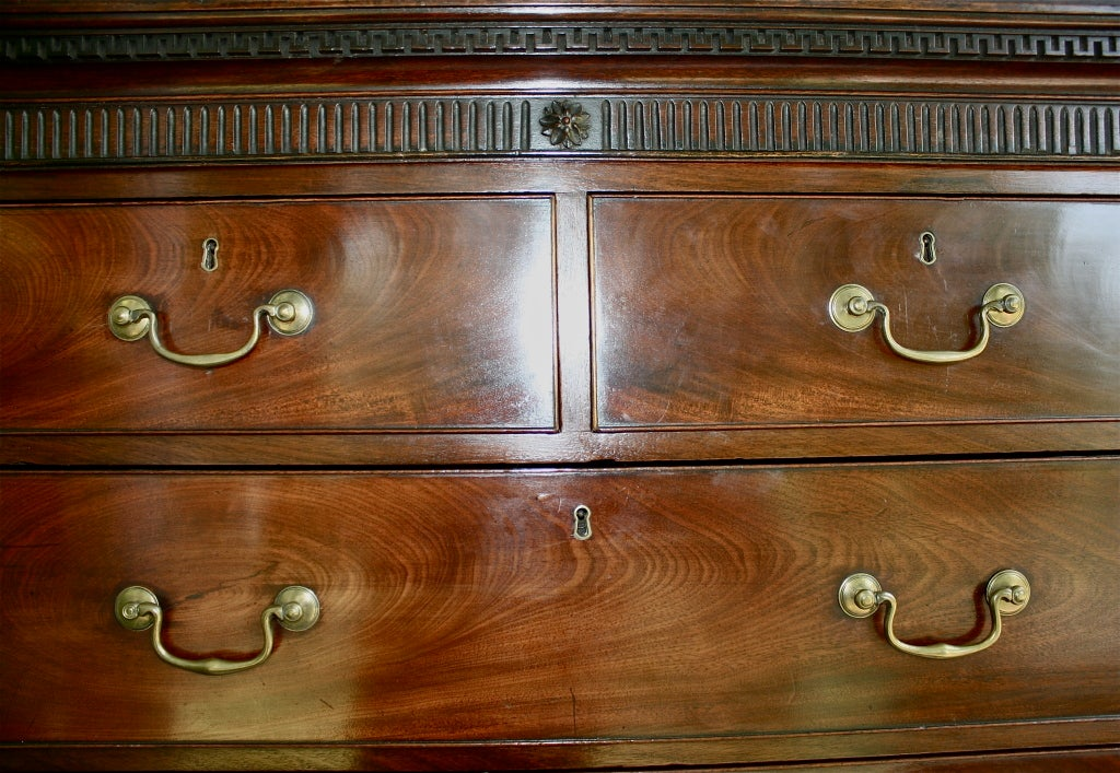 Late 18th Century Scottish 'Swans Neck' Chest on Chest For Sale