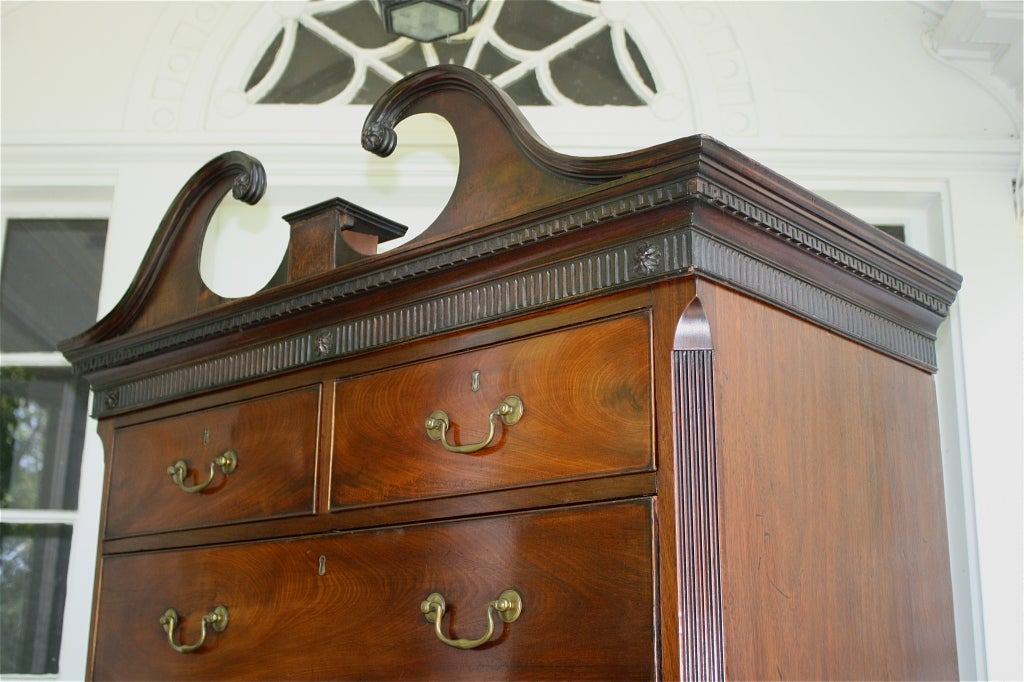 Scottish 'Swans Neck' Chest on Chest For Sale 1